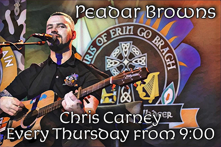Chris Carney at Peadar Brown's