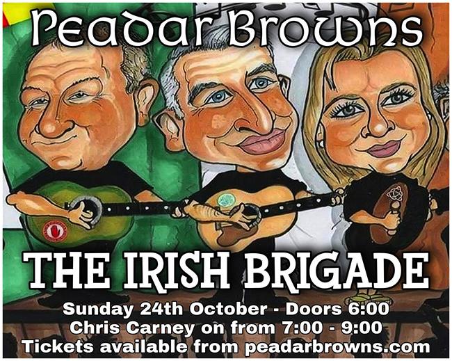 The Irish Brigade at Peadar Browns